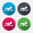 Swimming signs icons — Stock Vector #60072813