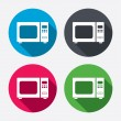Microwave oven sign icons — Stock Vector #60072955