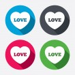 Heart sign icons — Stock Vector #60073947