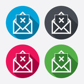 Mail delete icons — Stockvektor