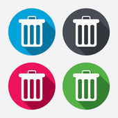 Recycle bin sign icons — Stockvector