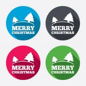 Merry christmas sign icons — Stock Vector