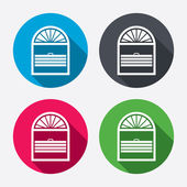 Louvers plisse sign icons — Vecteur