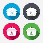 Boil 8 minute icons — Stock Vector