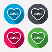 Heart sign icons — Stock Vector