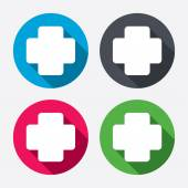 Medical cross sign icons — Stock Vector