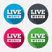 Live music sign icons — Stock Vector