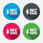 WC women toilet sign icons — Stockvektor