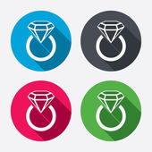 Jewelry sign icons — Vettoriale Stock