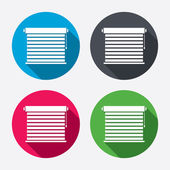 Louvers sign icons — Vecteur