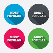 Most popular sign icons — Vector de stock