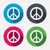 Peace sign icons — Stock Vector