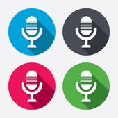 Microphone icons — Stock Vector