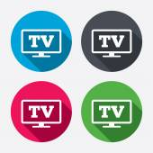 Widescreen TV sign icons — Stock Vector