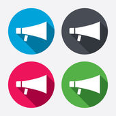 Megaphone sign icons — Vector de stock