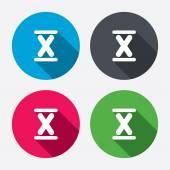 Roman numeral ten icons — Stock Vector