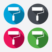 Paint roller sign icons — Stock Vector