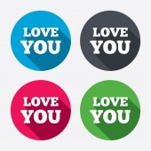 Love you sign icons — Stock Vector
