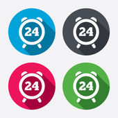 24 hours time sign icons — Stockvektor