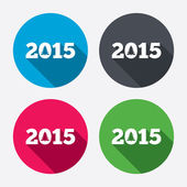 Happy new year 2015 icons — Stock Vector
