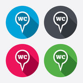 WC Toilet sign icons — Stockvektor