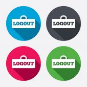 Logout sign icons — Stock Vector