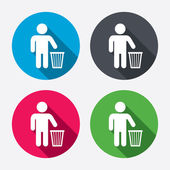 Recycle bin signs — Stockvector