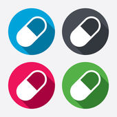 Medical pill sign icons — Stock Vector