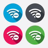 Wifi minus signs — Stock Vector