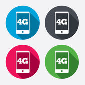 Mobile 4G signs — Stockvektor