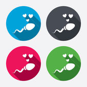 Sperm signs icons — Stock Vector