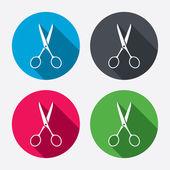 Scissors hairdresser icons — Stock Vector