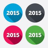 Felice nuovo anno 2015 icone — Vettoriale Stock