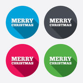 Merry christmas text sign icons — Stock Vector