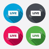Live sign icons — Stock Vector