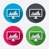 Computer monitor sign icons — Stock Vector