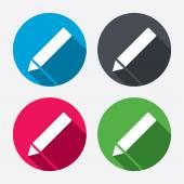 Pencil sign icons — Stock vektor
