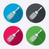 Screwdriver tool icons — Stock vektor