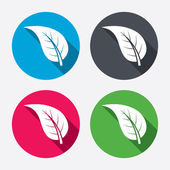 Leaf sign icons — Stock Vector