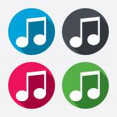 Music note sign icons — Stock Vector