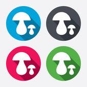 Mushroom sign icons — Stock Vector