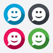 Smile face signs icons — Stock Vector