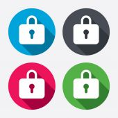 Lock sign icons — Stock Vector