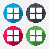 Thumbnails grid icons — Stockvector