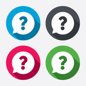 Question mark sign icons — Stock Vector