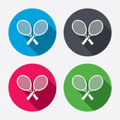 Tennis rackets signs icons. — Stock Vector