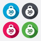 Weight sign icons — Vector de stock
