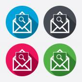 Mail search icons — Stock Vector