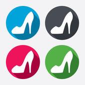 Sinais de sapato feminino — Vetor de Stock