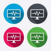 Cardiogram monitoring sign icons — Vetorial Stock